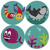 picture of jaw drop  - four beautiful icons of what sealife is - JPG