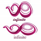 foto of mobius  - a pink purple infinity symbol with text in a white background - JPG