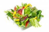 image of rocket salad  - fresh healthy vegetable salad - JPG