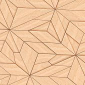image of tangram  - Abstract Wooden Striped Textured Of Tangram Parquet - JPG