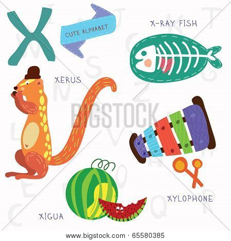 Very cute alphabetx letter xerusx ray fishxylophonexigua poster very cute alphabetx letter xerusx ray fishxylophone thecheapjerseys Gallery