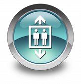 foto of elevator icon  - Icon Button Pictogram Illustration Image with Elevator symbol - JPG