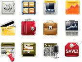 Vector universal square icons. Part 5. Banking (white background)