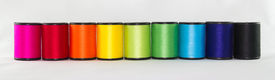 stock photo of rayon  - set of color threads on a white background - JPG