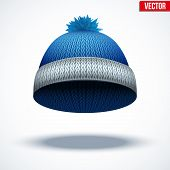stock photo of knitted cap  - Knitted woolen cap - JPG