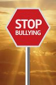 pic of stop bully  - Creative sign with the message  - JPG
