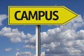 stock photo of quadrangles  - Campus creative sign - JPG