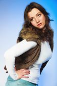 picture of plus size model  - Winter fashion - JPG