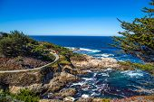 image of bixby  - The Big Sur and its rocky coastline on a wonderful day in USA - JPG