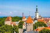 foto of olaf  - Scenic summer aerial panorama of Tallinn - JPG