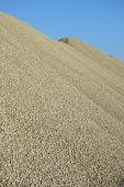 stock photo of sand gravel  - Pile of green gravel  - JPG
