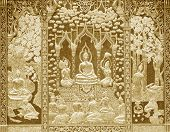 picture of buddhist  - Wood carving Buddhist temple door public places of Buddhist worship - JPG