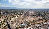 picture of freightliner  - Train yard from above in Tucson Arizona
