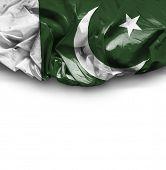 picture of pakistani flag  - Pakistan waving flag on white background - JPG