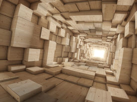 picture of box-end  - wood deep tunnel with light at the end - JPG