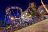 image of amusement park rides  - Amusement Park at night in Summer - JPG