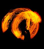 image of fiery  - Fiery Motion Orange Flames  - JPG