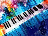 Постер, плакат: Фортепиано