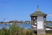 picture of outer  - Okracoke harbour in the Outer Banks - JPG