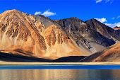 image of jammu kashmir  - Reflection of Mountains on Pangong tso  - JPG