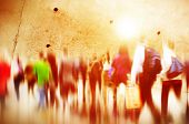 picture of commutator  - Casual People Rush Hour Walking Commuting City Concept - JPG