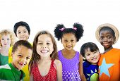 picture of cheers  - Children Kids Happines Multiethnic Group Cheerful Concept - JPG
