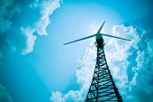 pic of wind-vane  - The wind turbine generator the renewable energy - JPG