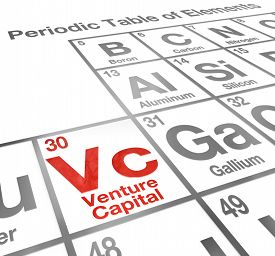 pic of periodic table elements  - Venture Capital or VC words on a periodic table of elements to illustrate money funding and financing for your new startup company or business - JPG