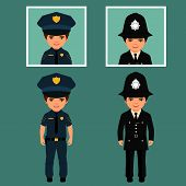 image of policeman  - british policeman uniform - JPG