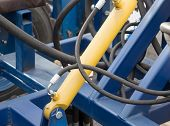 picture of hydraulics  - Detail of hydraulic piston Construction lifting machine - JPG