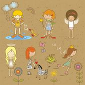 pic of young girls  - girls sketch - JPG
