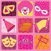 purim icons