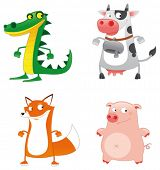 Funny Animals. Cartoon and vector characters.