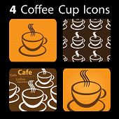 4 Coffee Cup Icons