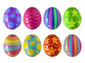 Colorful Easter eggs isolated in white background