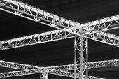picture of tarp  - Steel girders - JPG