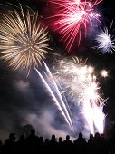 image of guy fawks  - Fireworks taken on the 5th November to mark Guy Fawke - JPG