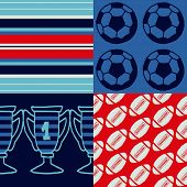 Pop-art seamless pattern - sports