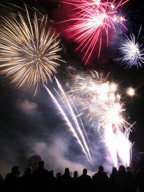 picture of guy fawks  - Fireworks taken on the 5th November to mark Guy Fawke - JPG