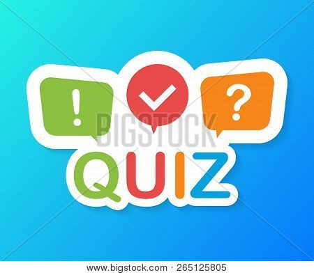 Quiz Logo With Speech Bubble