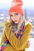 Fashion Portrait Of Woman. Woman Maintaining Fashion Blog. Hipster Woman With Fashion Makeup. Beauty poster