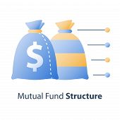 Investment Fund Structure, Asset Diversification, Mutual Fund Concept, Financial Solution, Stock Mar poster
