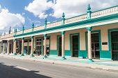 Las Tunas, Cuba - Jan 27, 2016: Old Buildings In The Center Of Las Tunas. poster