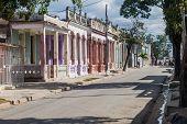 Las Tunas, Cuba - Jan 27, 2016: Traditional Buildings In The Center Of Las Tunas. poster