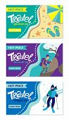Travel Banner For Web Site. Set Of Vector Template Design. Tourism. Summer Tours, Extrim Tours, Wint poster