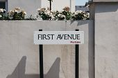 First Avenue Street Name Sign In Barnes, Borough Of Richmond Upon Thames, London, Uk. poster