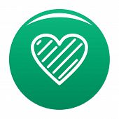 Simple Heart Icon. Simple Illustration Of Simple Heart Vector Icon For Any Design Green poster