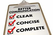 Better Communication Checklist Clear Concise 3d Illustration poster
