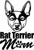 Animal Dog Rat Terrier 2B Rg6H Mom.eps poster