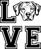 Animal Dog Rhodesian Ridgeback Labador 6T6Vg  Love Copy.eps poster